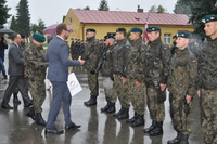 Galeria Święto Wojska Polskiego w strugach deszczu…