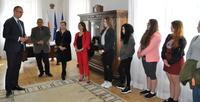 Galeria Podopieczni Ochotniczego Hufca Pracy z wizytą u Prezydenta Miasta